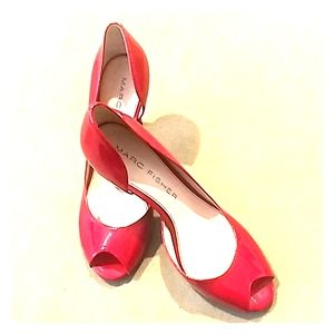 Marc Fisher red patent shoes